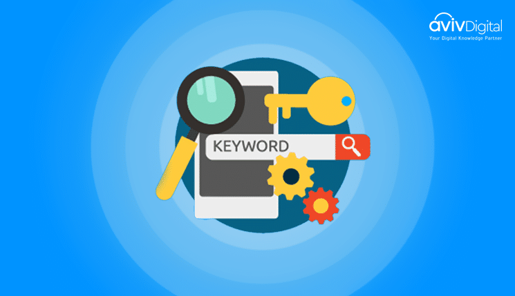 What is the range of keywords per group of ads